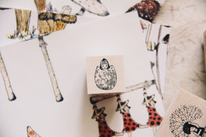 Mushrooms and Dwarfs: Caesar Girl Rubber Stamp