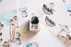 Village by the Oaktree: Casa Mushroom Rubber Stamp