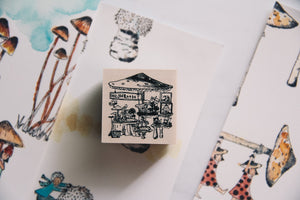 Village by the Oaktree: Mushroom Store Rubber Stamp