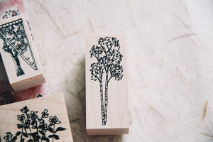 Birch and Bunnies: Birch Tree Rubber Stamp