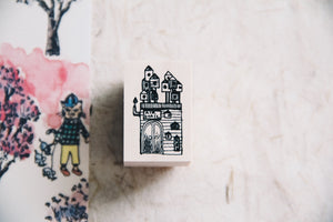 Cat Village: Mini Postoffice Rubber Stamp