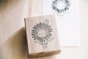 Black Milk Project Rubber Stamp - Sunflower Girl