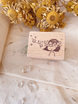 msbulat I See Flowers Rubber Stamp