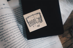 Yamadoro Book Travel Rubber Stamp