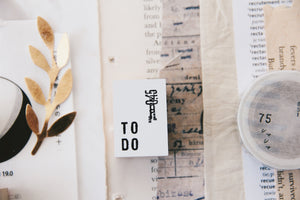 Yohaku Original Rubber Stamp - To Do (S-06)