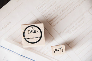 Catslife Press Tag Stamp Date Rubber Stamp