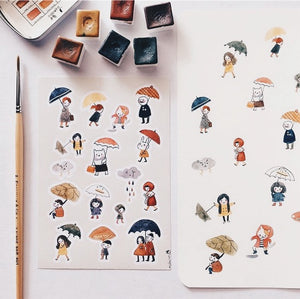 Msbulat Rainy Days Sticker Sheet
