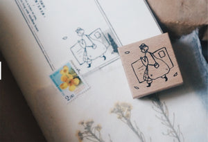 Yamadoro Write a Letter Rubber Stamp