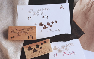 Kurukynki Rubber Stamp - Illusion - Birds