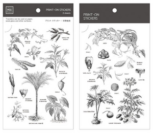 MU Print-On Stickers-029 Botanical Field Guide