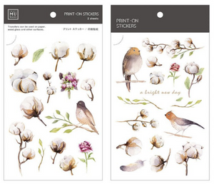 MU Print-On Stickers-036 Cotton Flower Field