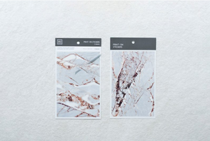 MU Print-On Stickers-002 Cracking Marble