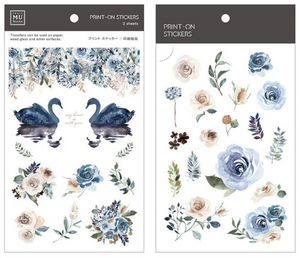 MU Print-On Stickers-032 Blue Rose
