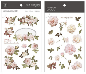 MU Print-On Stickers-034 Classical Roses