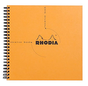 Rhodia -Reverse Book Grid Orange