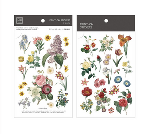 MU Print-On Stickers-046 Retro Flowers