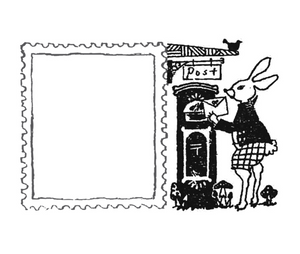 Wonderland: Rabbit Emil and a Letter Stamp