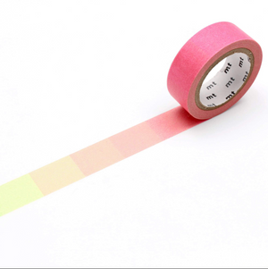 MT Deco Washi Tape Fluorescent Pink and Green