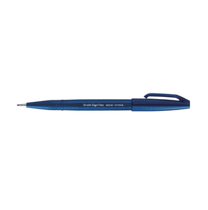 Pentel - Fude Touch Brush Sign Pen - Blue Black