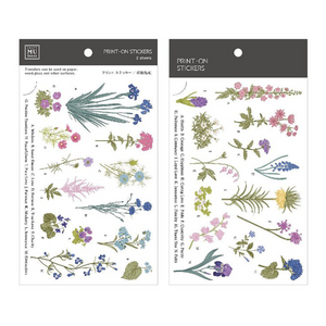 MU Print-On Stickers-127 Pressed Blooms