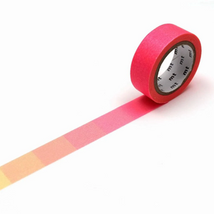 MT Deco Washi Tape Fluorescent Pink and Yellow