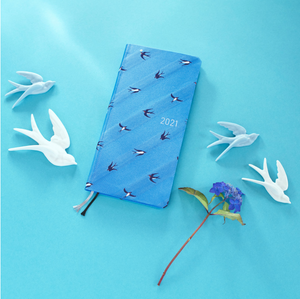 Hobonichi Techo 2021 Weeks - Bow & Tie: Swallows (Wallet Size)