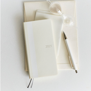 Hobonichi Techo 2021 Weeks - White Line: Ivory (Wallet Size)