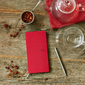 Hobonichi Techo 2021 Weeks - Colors: Deep Red (Wallet Size)