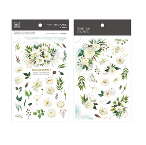 MU Print-On Stickers-141 Beautiful Blooms