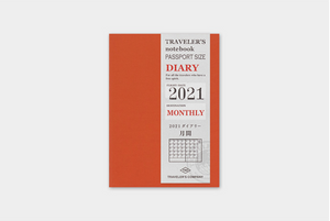 Traveler's Notebook 2021 Refill Monthly - Passport Size