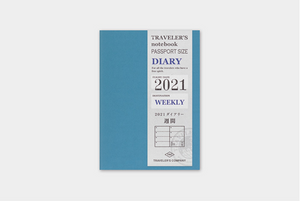 Traveler's Notebook 2021 Refill Weekly - Passport Size