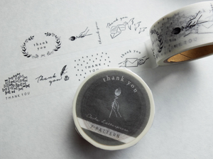 Oeda Letterpress Masking Tape-7 Pattern Thank You