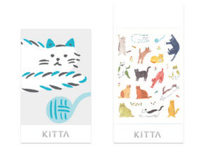 KITTA Seal Washi Tape- KITD014 Icon (Cat)