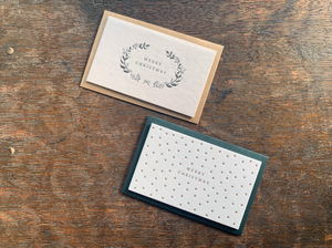 Oeda Letterpress Merry Christmas Card (Star/Wreath)