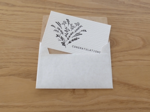 Oeda Letterpress Congratulations Bouquet Card