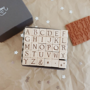 Yeoncharm Alphabet Rubber Stamp Set: Capital Letters