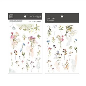 MU Print-On Stickers-159 Watercolour Florals