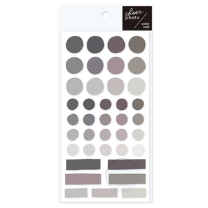 Mindwave Sheer Photo Colour Stickers: Monochrome