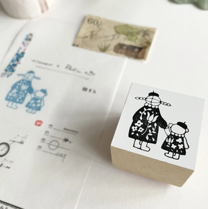 Nico Neco x PEPIN Rubber Stamp: Hold Hands
