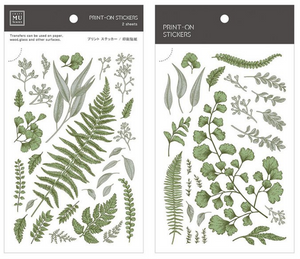 MU Print-On Stickers-050 Forest Ferns