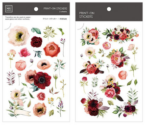 MU Print-On Stickers-054 Blush Roses