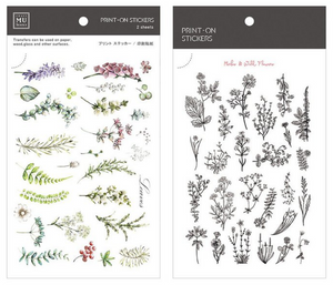 MU Print-On Stickers-055 Romantic Garden