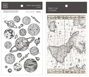 MU Print-On Stickers-056 Planets & Maps