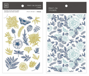 MU Print-On Stickers-051 Herbal Flower