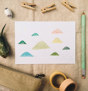 Mountains Postcard