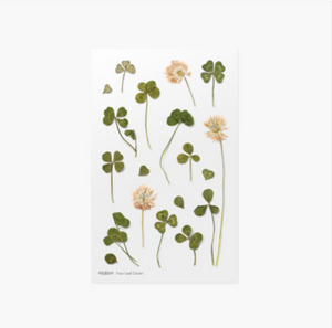Appree Pressed Stickers- 006 Four Leaf Clover