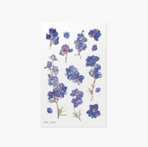 Appree Pressed Stickers- 012 Larkspur