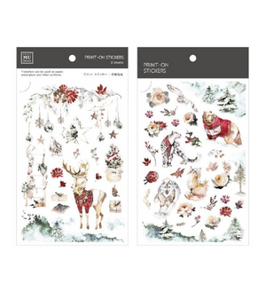 MU Print-On Stickers-099 Winter in the Forest