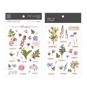 MU Print-On Stickers-104 Pressed Flowers