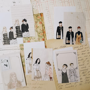 Dolls Note Paper Set